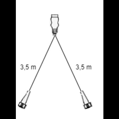 Radex 7-polige Radex 5500 verlichtingsset met 3,5 meter hoofdkabel