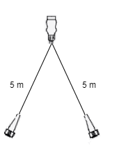 Aspock Midipoint 2 verlichtingsset met 5 meter hoofdkabel
