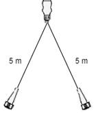 Aspock Led set met 5 meter hoofdkabel - 13 polig