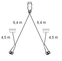 6,4 meter lange Aspock hoofdkabel - 13 polig - 5 pokige connectoren - inclusief voorgemonteerde markeringsverlichting - Plug&Play