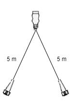 5 meter lange Aspock hoofdkabel - 13 polig - 5 polige connectoren - Plug&Play