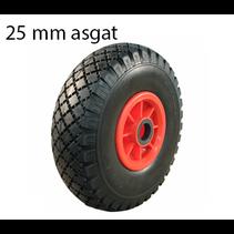 Steekwagenwiel 3.00-4 - anti-lek - 125 kg - 25 mm