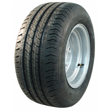 AWD Compleet 10 inch wiel - 195/50R10C -  band + velg - opel steek: 4x100 - 10PR - 500 kg - 60 mm naafdiameter
