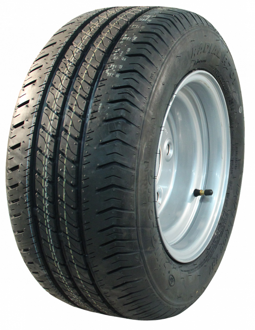 AWD Compleet 10 inch wiel - 195/50R10C -  band + velg - steek: 5x140 - 10PR - 750 kg - 94 mm naafdiameter