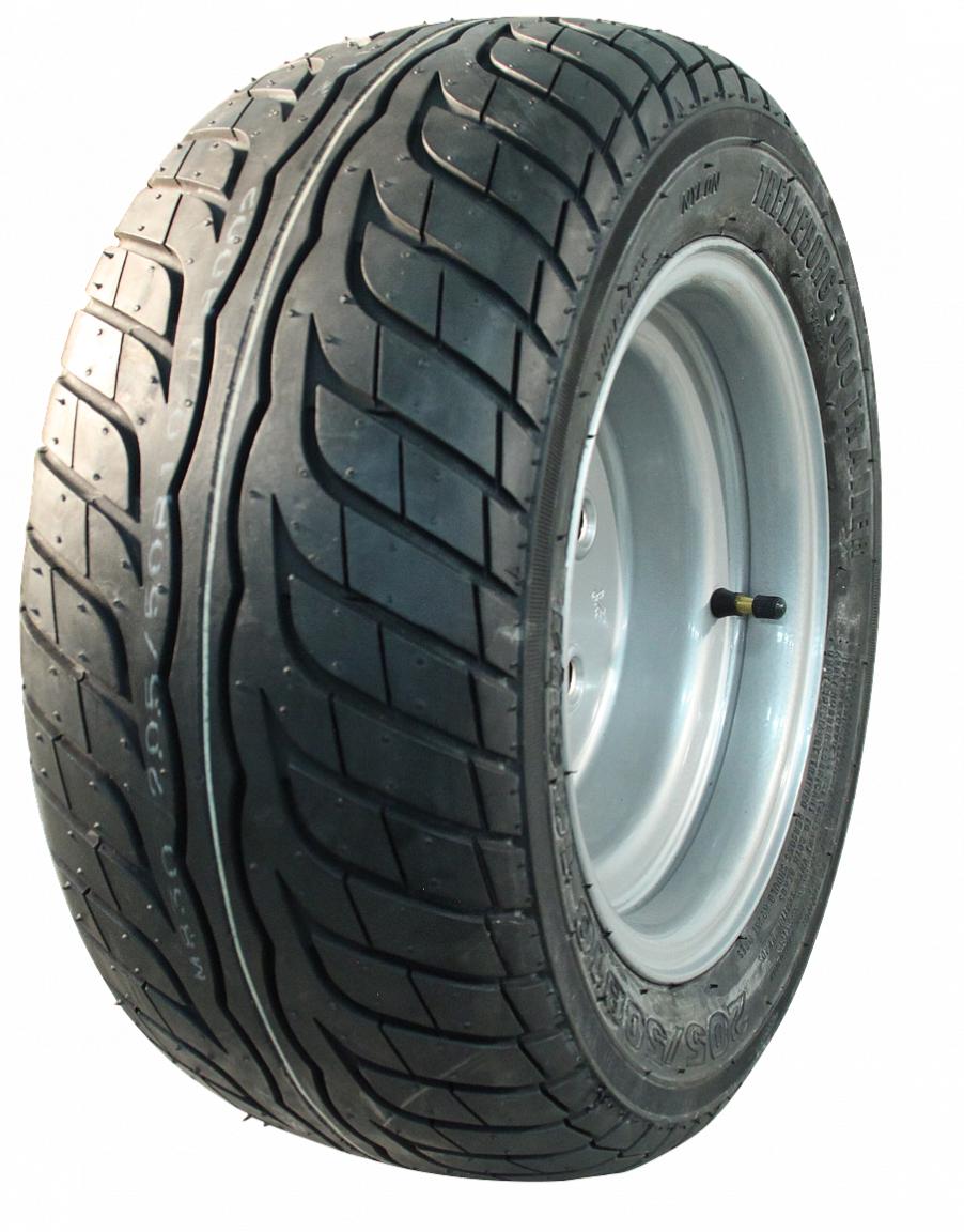 AWD Compleet 10 inch wiel -205/50B10 -  band + velg - mercedes steek: 5x112 - 10PR - 750 kg - 67 mm naafdiameter