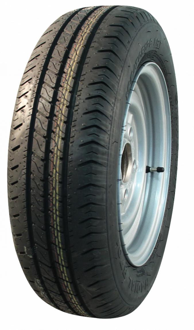 AWD Compleet 13 inch wiel - 155R13  band + velg -steek: 4x130 - 500  kg -  85 mm asgat/naafdiameter