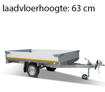 Eduard Geremde Eduard plateauwagen - 256x150 cm - 1350 kg bruto laadvermogen - 63 cm laadvloerhoogte - 30 cm borden