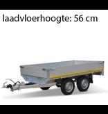 Eduard Geremde Eduard plateauwagen - 256x150 cm - 2000 kg bruto laadvermogen - 56 cm laadvloerhoogte - 30 cm borden 195/55R10