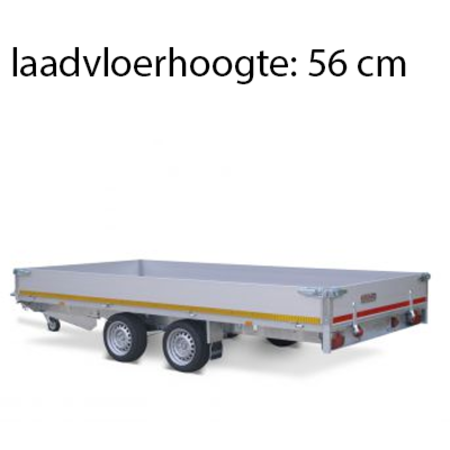 Eduard Geremde Eduard plateauwagen - 406x200 cm - 3000 kg bruto laadvermogen - 56 cm laadvloerhoogte - 30 cm borden