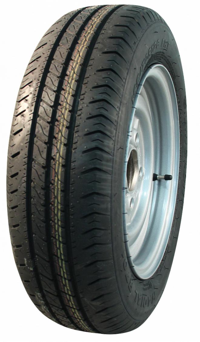 AWD Compleet 13 inch wiel - 175/70R13  band + velg - steek: 4x130 - 530  kg -  85 mm asgat/naafdiameter