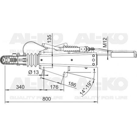 AL-KO Oplooprem 2.8VB1/-C (3500kg)  V-dissel