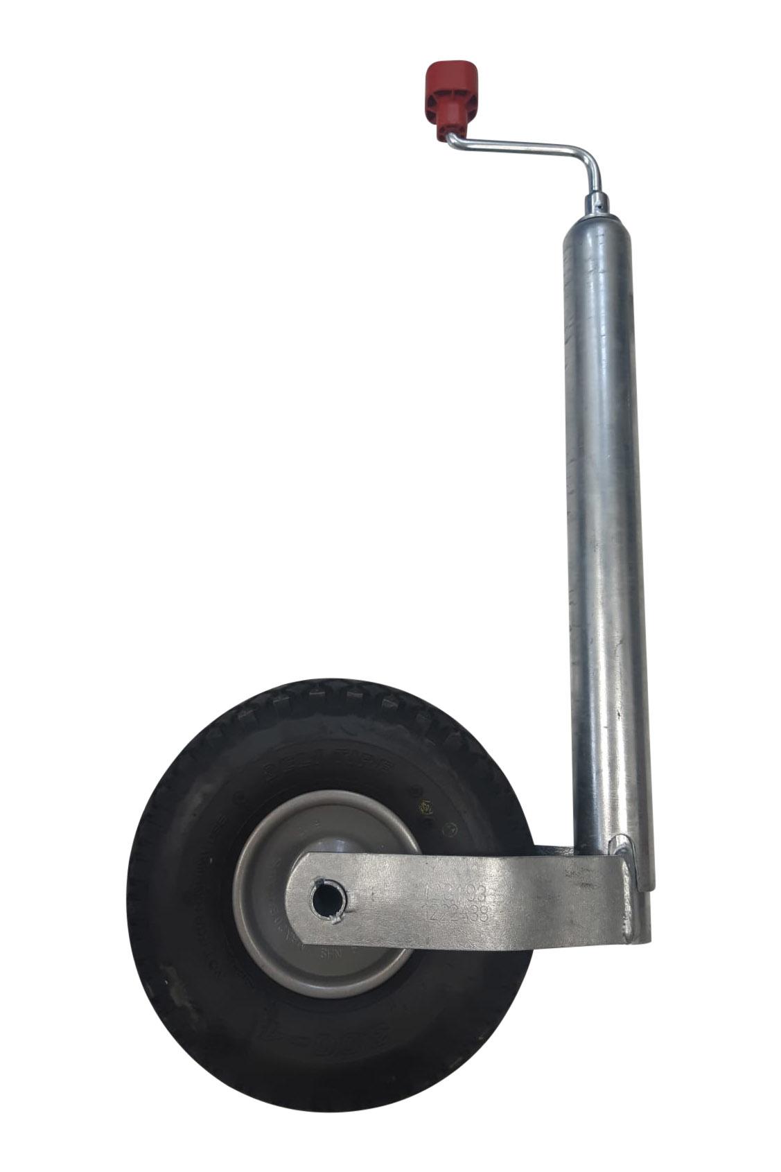 AL-KO Neuswiel Plus Alko , rond diameter 48 mm, extra lang, stalen velg met luchtband ( 260 x 85)