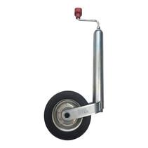Alko Neuswiel Compact 48 mm, stalen velg met massief rubber wiel