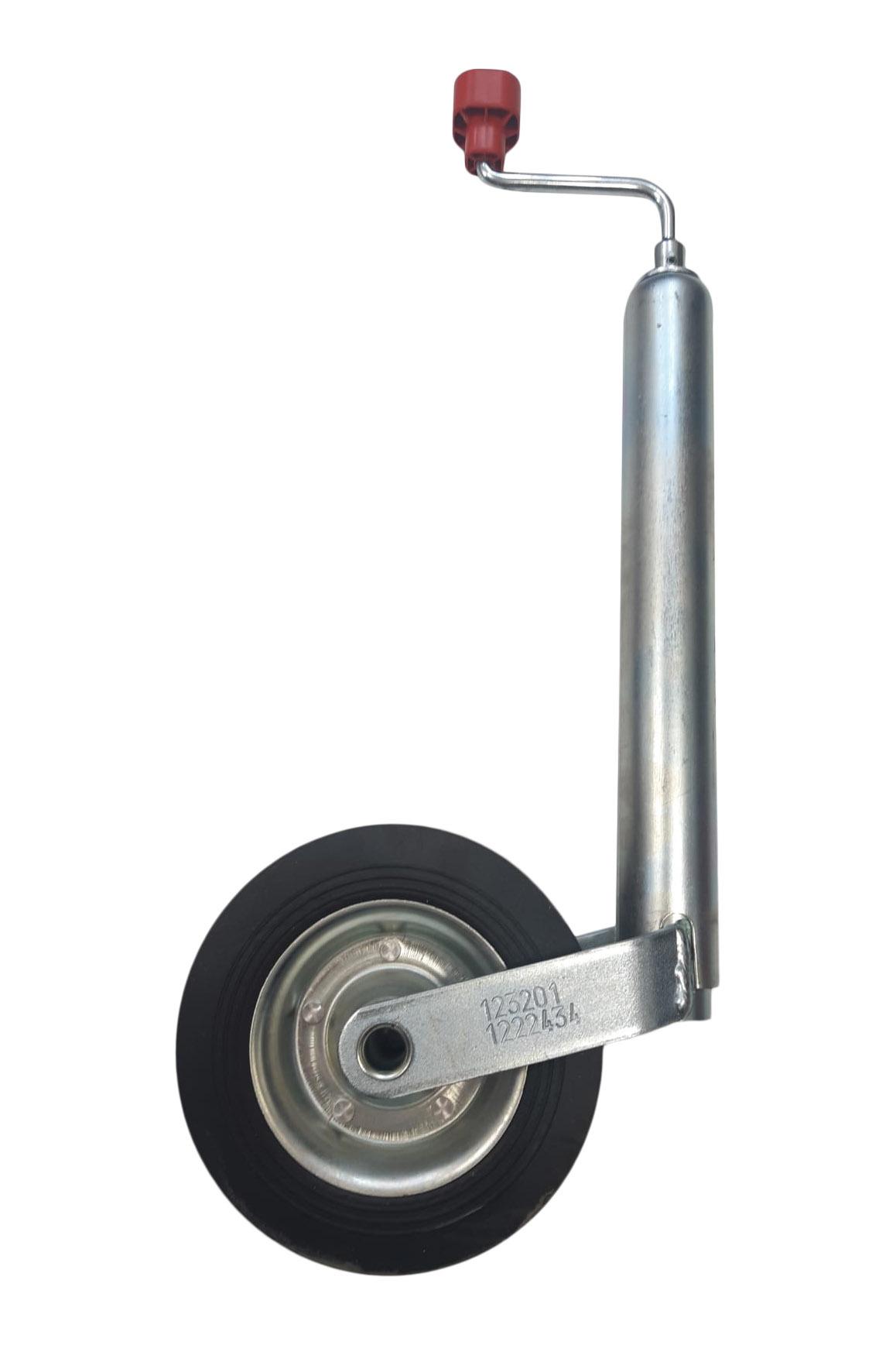 Neuswiel Compact Alko, rond diameter 48 mm, stalen velg met massief rubber wiel