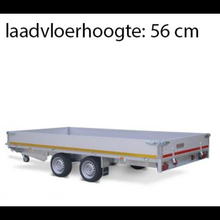 Eduard Geremde Eduard plateauwagen - 406x200 cm - 2000 kg bruto laadvermogen - 56 cm laadvloerhoogte - 30 cm borden