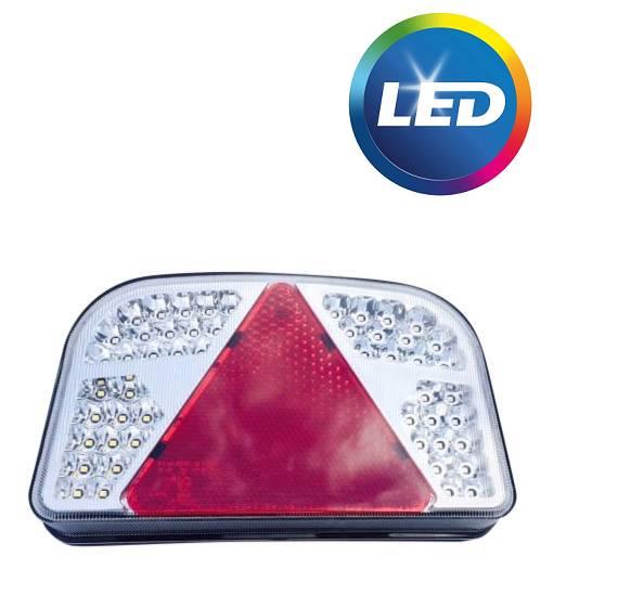 Aspock LED achterlicht met alle functies - 244x149x48 mm - links