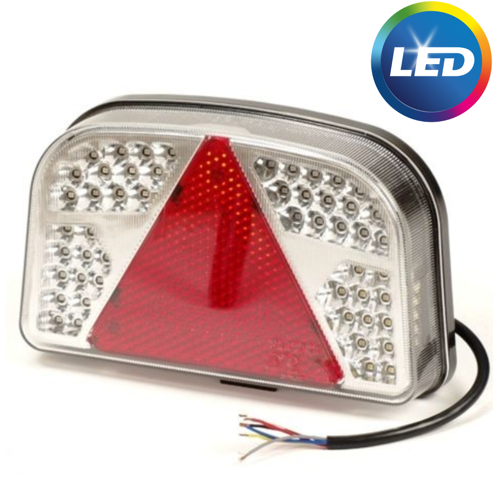 LED achterlicht met 56 LEDs - links - 244x149x48 mm