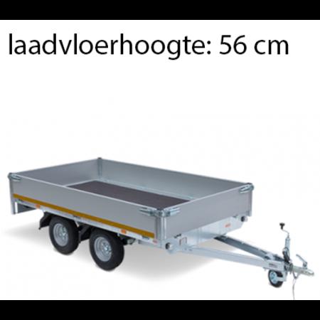 Eduard Geremde Eduard plateauwagen - 330x180 cm - 2000 kg bruto laadvermogen - 56 cm laadvloerhoogte - 30 cm borden - tandemasser