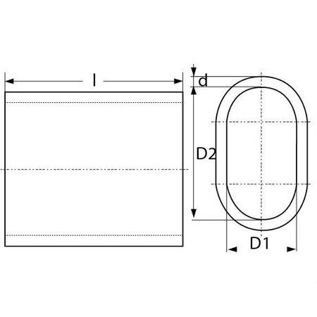 Aluminium klemkous voor 3 mm staaldraad