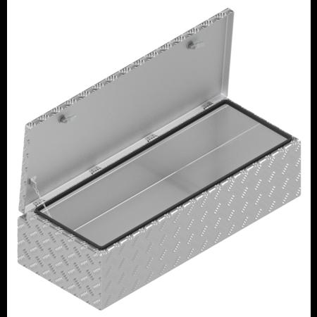 De Haan DE HAAN BOX WXV - 968x400x250 mm - waterdichte en stofdichte aluminium traanplaat disselkist  - voorzien van vlinderslot