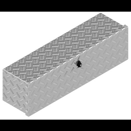 De Haan DE HAAN BOX OM - 900x250x250 mm - waterdichte en stofdichte aluminium traanplaat disselkist  - voorzien van vlinderslot of t-sluiting