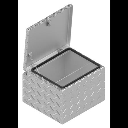 De Haan DE HAAN BOX S - waterdichte en stofdichte aluminium traanplaat disselkist 420x390x295 mm - voorzien van vlinderslot of spansluiting