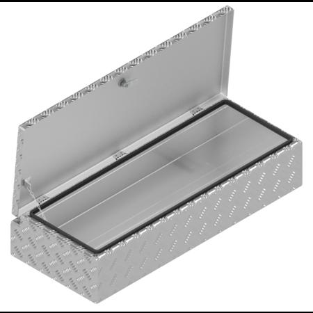 De Haan DE HAAN BOX H - 900x380x190 mm - waterdichte en stofdichte aluminium traanplaat disselkist - voorzien van vlinderslot of spansluiting