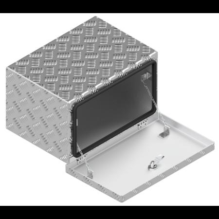 De Haan DE HAAN BOX OK - 414x240x300 mm - waterdichte en stofdichte aluminium traanplaat disselkist  - voorzien van vlinderslot of t-sluiting