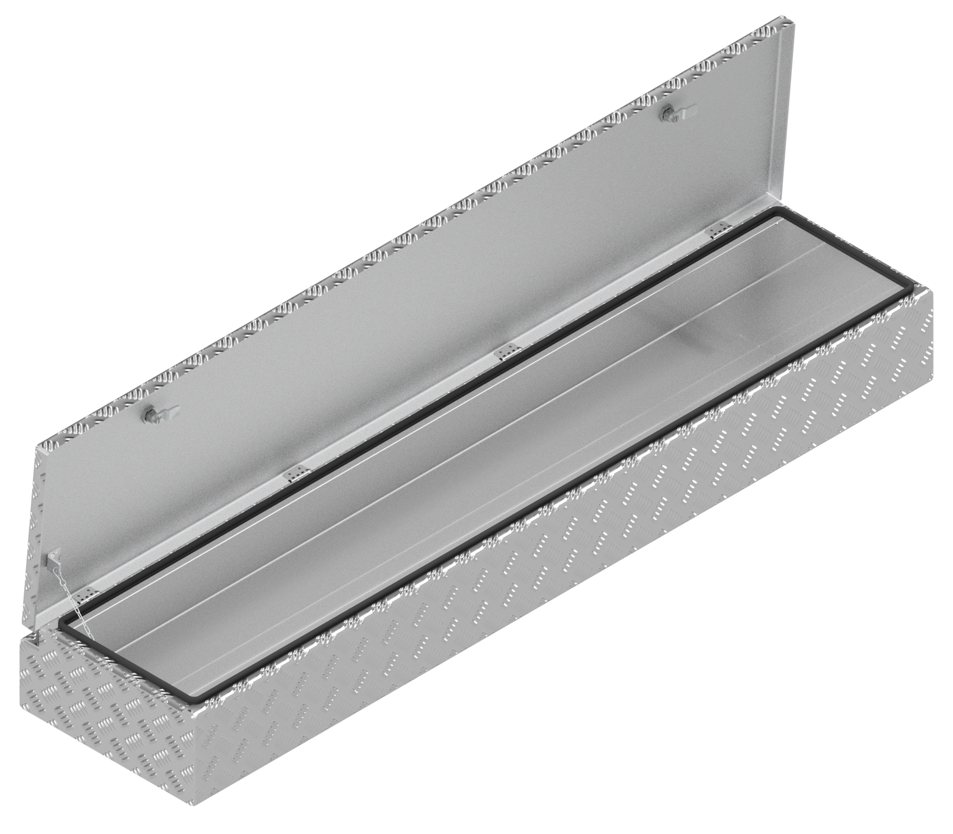 De Haan DE HAAN BOX HL - 1618x391x190 mm - waterdichte en stofdichte aluminium traanplaat disselkist - voorzien van vlinderslot of spansluiting