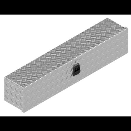 De Haan DE HAAN BOX OL - 1264x267x250 mm - waterdichte en stofdichte aluminium traanplaat disselkist  - voorzien van vlinderslot of t-sluiting