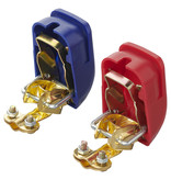 ProPlus Accupoolklemmen set (+) en (-) met snelaansluiting - 12-24V