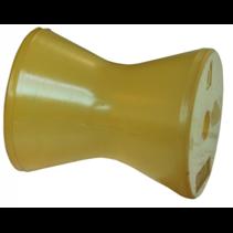 75x70 mm kielrol oranje/geel 14 mm naafdiameter