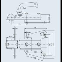 Winterhoff WW150VF  - koker 60 mm - 1500 kg - ongeremd