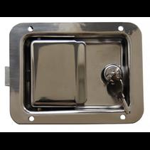 Gepolijst inbouwslot RVS - 140x108 mm - 2 sleutels