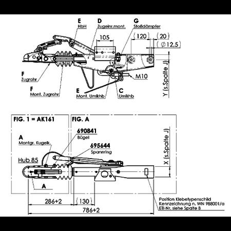 AL-KO Oplooprem 90S/3-R4 (1000kg) Vierkant 60mm