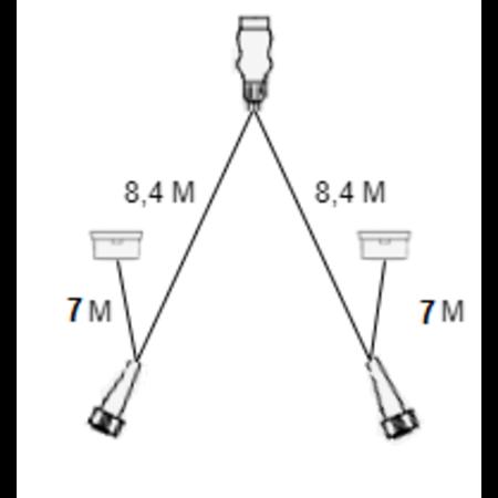 Aspock Aspock hoofdkabel - 8,4 meter lang - 13-polig - voorzien van 8-polige connectoren - inclusief voorgemonteerde markeringsverlichting - Plug&Play