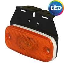 Zijmarkeringslamp - oranje/geel - losse draad