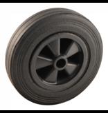 AWD Losse kunststof velg met Hard rubberen wiel 200 x 50. Past op neuswiel met buis van 48mm doorsnee.