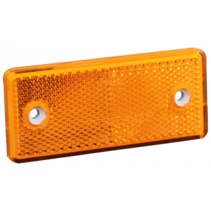Oranje/gele reflector 96x42 mm - zelfklevend