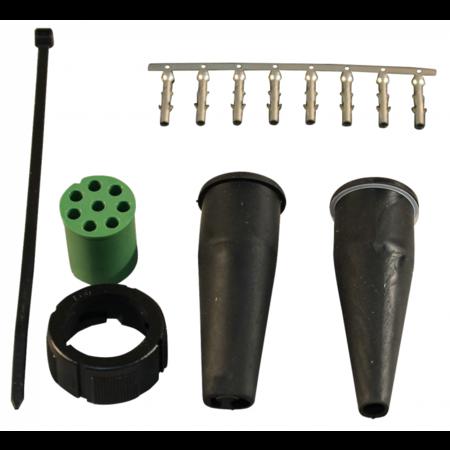 Aspock Aspock connector rechts - 8 pins/aderig - groen