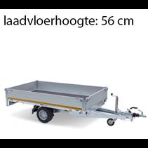 256x150 cm - 1350 kg - inclusief oprijplaten