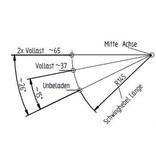 Knott Ongeremde torsie as - padmaat 1200 mm - flensmaat 1650 mm - 850 kg - 4x100