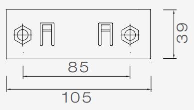 Aspock Earpoint 3 + 4 montagesteun  Merk: Aspock  Aspock nummers: 15-5303-007, 15-5303-017  Technische tekening