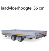 Eduard Geremde Eduard plateauwagen - 406x200 cm - 2700 kg bruto laadvermogen - 56 cm laadvloerhoogte - 30 cm borden