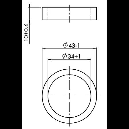 AL-KO AL-KO trekstang aanslagring 43/34x10 mm - 90s/2