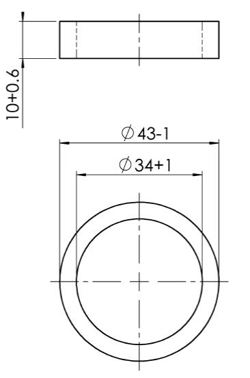 Trekstang aanslagring 43/34x10 mm  Merk: AL-KO  Geschikt voor: 90s/2  Afmetingen: 43/34x120 mm