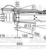 AL-KO Oplooprem 251G (3000 kg) V-dissel