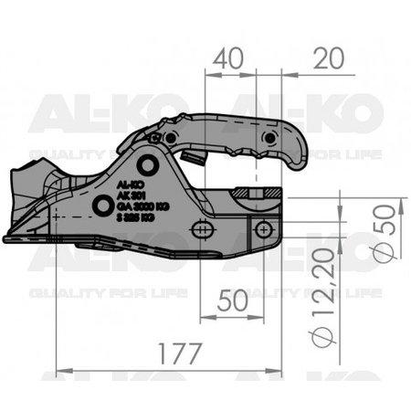 AL-KO AL-KO AK301 - rond 50 mm - 3000 kg - geremde koppeling