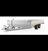 Eduard Geremde Eduard plateauwagen 406x220 cm - 3000 kg bruto laadvermogen -  56 cm laadvloerhoogte - 30 cm borden