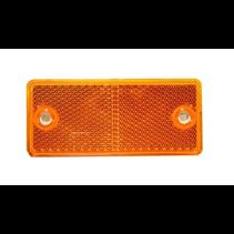 Oranje/gele reflector 90x40 mm - schroefgaten